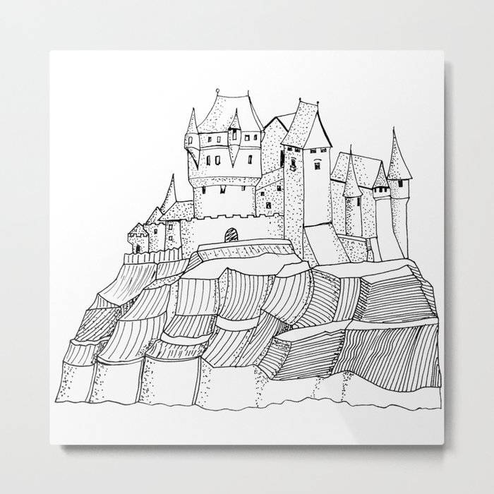 Castle on the cliff . artwork Metal Print