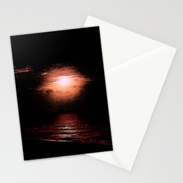 KISSING ON THE BEACH Stationery Cards