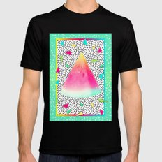 Watermelon LARGE Black Mens Fitted Tee