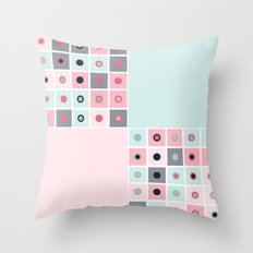 Spotted geometric pattern Throw Pillow