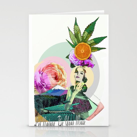 Let Nature Be Your Muse Stationery Cards