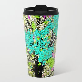 TREES PINK AND GREEN ABSTRACT Travel Mug