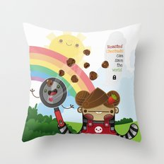 Roasted Chestnuts can save the world!!! Throw Pillow