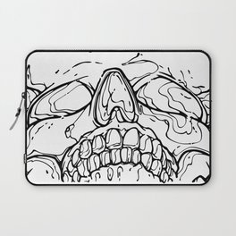 Carnibal / Ink Skull / Black Laptop Sleeve