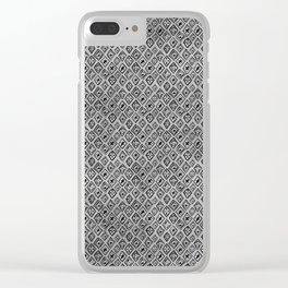 60s - Black abstract pattern on concrete - Mix & Match with Simplicty of life Clear iPhone Case