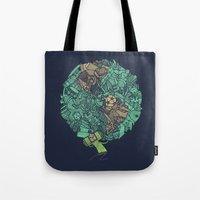 atlas Tote Bags featuring Prince Atlas by Hector Mansilla