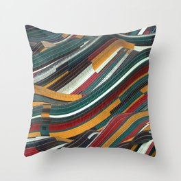Tiles Days Throw Pillow