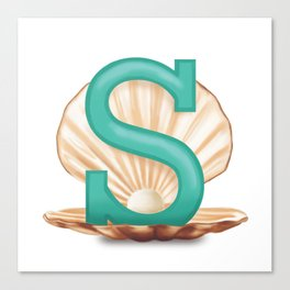 S is for Shell Canvas Print