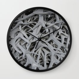 REMNANTS OF MATING SEASON Wall Clock