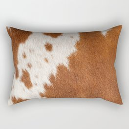 Cowhide, Cow Skin Pattern, Farmhouse Decor Rectangular Pillow