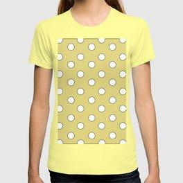 Yellow Pastel Polka Dots T-shirt