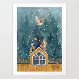 On the Roof Art Print