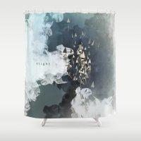 flight Shower Curtains featuring flight by Rafael Igualada