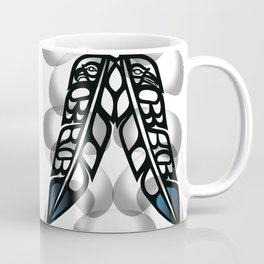 Heiltsuk Eagle & Raven Feathers Coffee Mug