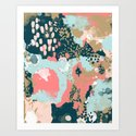 Eisley - Modern fresh abstract painting in bright colors perfect for trendy girls decor college by charlottewinter