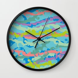 color waves Wall Clock