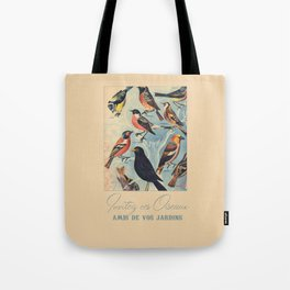 French Birds Tote Bag