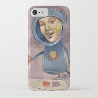 spaceship iPhone & iPod Cases featuring SPACESHIP by busymockingbird