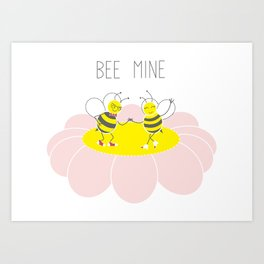 Bee Mine Art Print