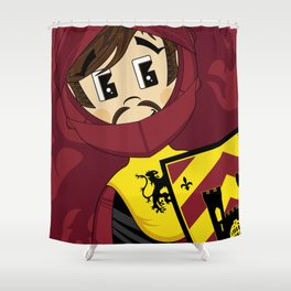K is for Knight Shower Curtain