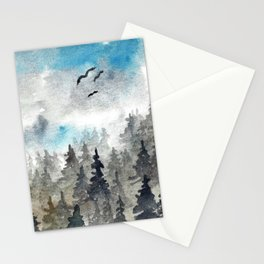 Landscape V: Soft Pines Stationery Cards