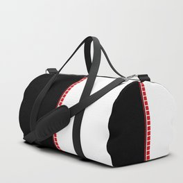 Abstract Black, White & Red Duffle Bag