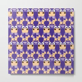 Super cute cartoon cow in purple - a moo-st have design for cow enthusiasts! Metal Print