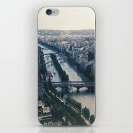 Aerial photograph of the city of Paris from the Eiffel Tower iPhone Skin