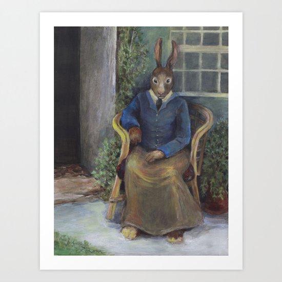 Beatrix Rabbit (an homage) Art Print