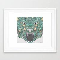 teeth Framed Art Prints featuring Teeth by Alexandria Robinson