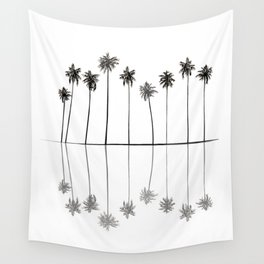 Palm Reflections II Wall Tapestry