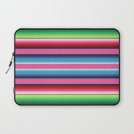Pink Green Blue Mexican Serape Blanket Stripes Laptop Sleeve
