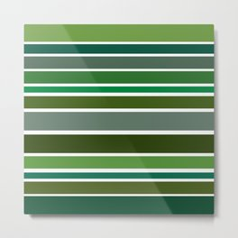 Shades of Green Metal Print