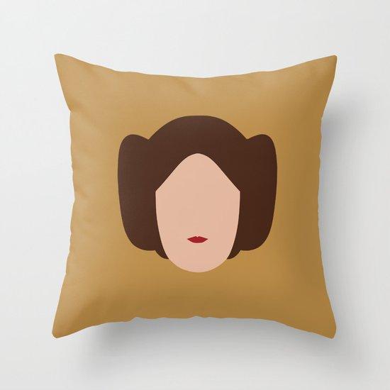 Star Wars Minimalism - Princess Leia Throw Pillow