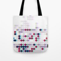 polkadot Tote Bags featuring 3D Polkadot by James K