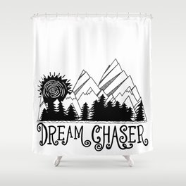 Dream Chaser, Mountain Adventure Shower Curtain