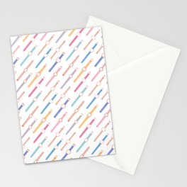 My colourful Watches -White Stationery Cards