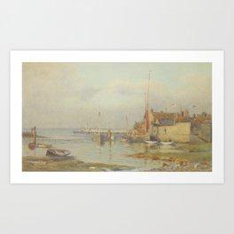 Alma Burlton Cull Evening, Yarmouth,I W, 1909 Art Print