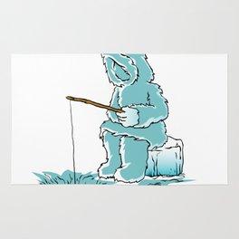 Eskimo fishing for fish Rug