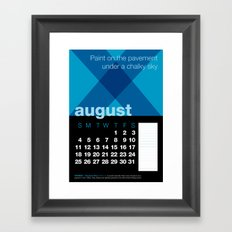 2013 Pigment to Pantone Calendar – AUGUST Framed Art Print