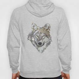 Wolf Head Illustration Hoody