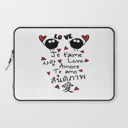 Love in many language Laptop Sleeve