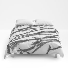 Black and white Horses Comforters