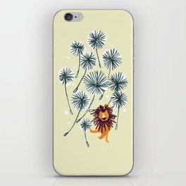 Lion on dandelion iPhone Skin