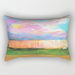 April Showers, Abstract Landscape Rectangular Pillow