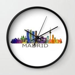 Madrid City Skyline HQ Wall Clock