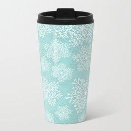 Snowflake pattern Metal Travel Mug