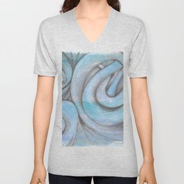swirl (light blue) Unisex V-Neck
