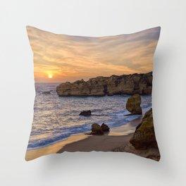 Sunset, Albufeira Throw Pillow