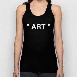 """ Art "" (Negative) Unisex Tank Top"